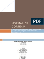 NORMAS DE CORTESIA