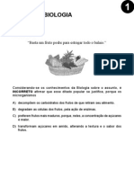 UFMG - 2009 - Etapa 1 - Caderno 1 - Biologia