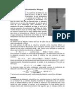 Coeficiente de dilatación volumétrica del agua
