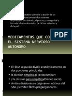 Medicamentos Que Controlan El Sistema Nervioso Autonomo