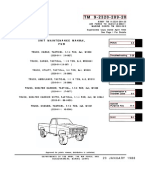 m1009 cucv wiring diagram 1973 88 military chevy truck manual1 vehicles vehicle technology  1973 88 military chevy truck manual1
