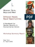 Gender Handbook Workshop Final Report