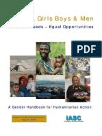IASC Gender Handbook Draft for Field Consultation August 2006