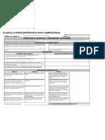 Plantilla de Preguntas x Competencias Franqueza - Confiabilidad - Integridad
