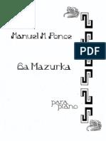 manuel m. ponce • mazurka 6 (piano)