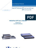 LTRT-65405 MediaPack SIP User's Manual Ver 4