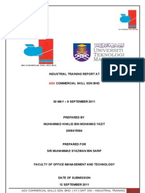 UiTM@UNIKOP OMT 330 Industrial Training Report | Personal Computers