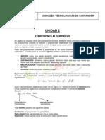 Apuntes Del Docente Expresiones Algebraic As