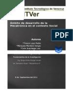 Ámbito de desarrollo de la Mecatrónica en el contexto Social
