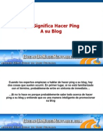 Que Significa Hacer Ping a Su Blog
