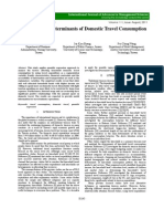 Understanding Determinants of Domestic Travel Consumption
