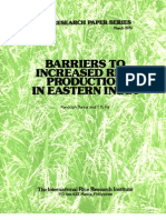 IRPS 25 Barriers to Increased Rice Production in Eastern India