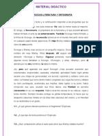 Ejercicios de literatura y ortografía