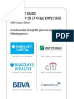 The Vault Guide to the Top 25 Banking Employers, European Edition