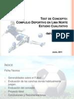 Informe Final - Test de Concepto Complejo Deportivo Lima Norte