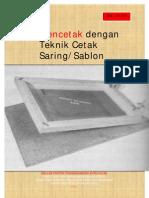 Mencetak Dengan Teknik Cetak Saring Sablon