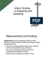 Measurement, Scaling, Instrument Designing and Sampling
