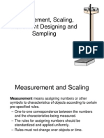 Measurement, Scaling, Instrument Designing and Sampling