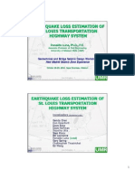 Earthquake Loss Estimation of St Louis Transportation