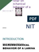 Micro Mechanical Behaviour of lamina