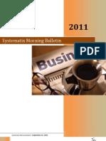 Systematix Morning Bulletin - September 16,2011