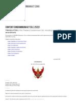 New Thailand Condominium Act 2008