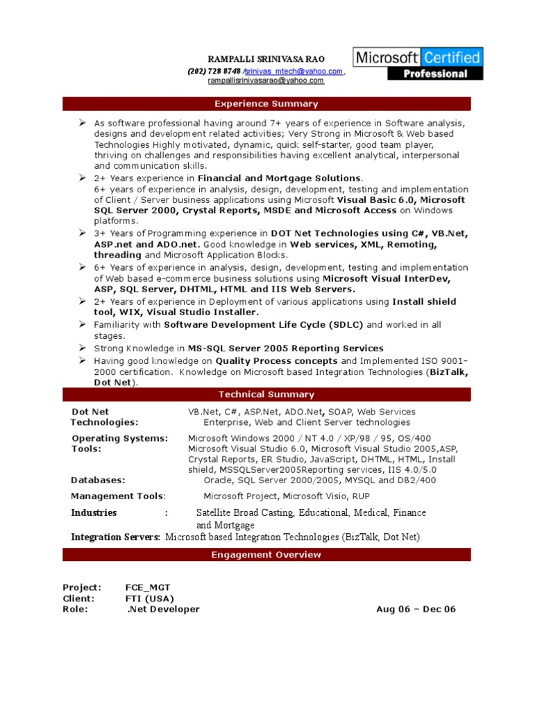 Years Of Experience Resume. php resume sample php developer resume ...