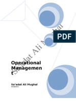 Operations and Project Management