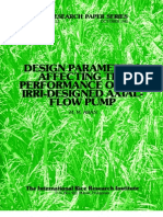 IRPS 112 Design Parameters Affecting the Performance of the IRRI-Designed Axial-Flow Pump