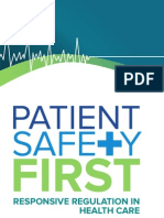 Patient Safety First Responsive Regulation in Health Care