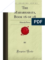 The Mahabharata- Book 16 of 18- Mausala Parva