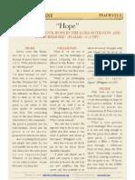"""Psalm 131 v3, """"Hope"""""""