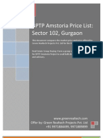 BPTP Amstoria Price List