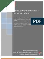 Eldeco Aamantran Price List