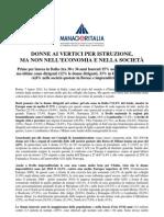 Rapporto ManagerItalia 8 Marzo 2011