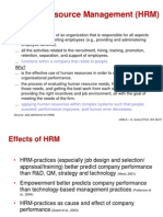 Link Between hRM and Performance