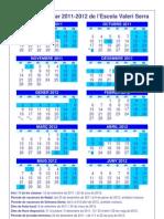 Calendari Escolar 2011-2012 - Escola Valeri Serra Bellpuig