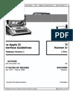 Apple II Human Interface Guidelines 1985