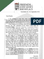 FoJMB Newsletter 2011 09