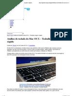 Atalhos de teclado do Mac OS X – Trabalhe simples e rápido | Pplware