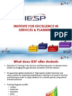 Career Oriented Courses at Institute for Excellence in Services and Planning (IESP)