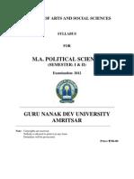 m.a. Political Science _semester i & II