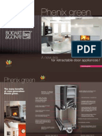 All new Phenix GREEN wood burner with 'Invisible door', from Bodart and Gonay.