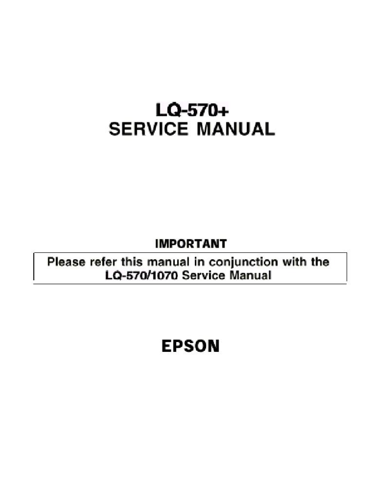 Epson lq-570+ manuals.