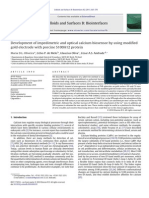 Biocapteur impedancemétrique pour calcium 2011(voir courbes greffage)