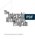 Internship in Architecture Program Manual