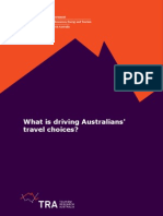 What is Driving Australians Travel Choices FINAL 2 June