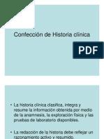 Confección de Historia clínica