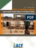 ACF 2009 Identifier les vulnérables urbains