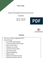 Period End Procedures – Oracle Financials EBS